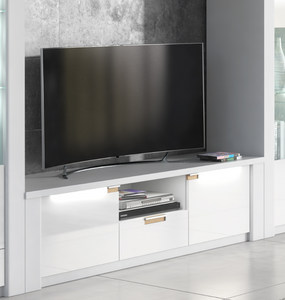 Phlox White High Gloss TV Unit