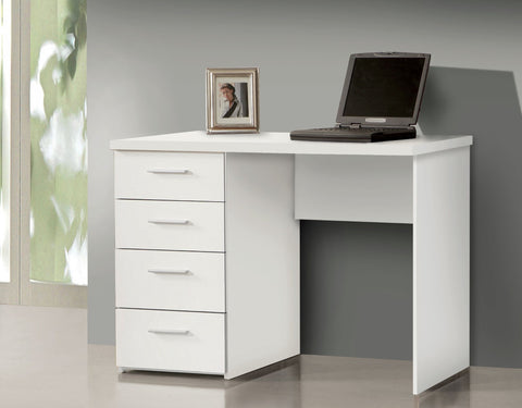 Camila Compact White Computer Office Desk