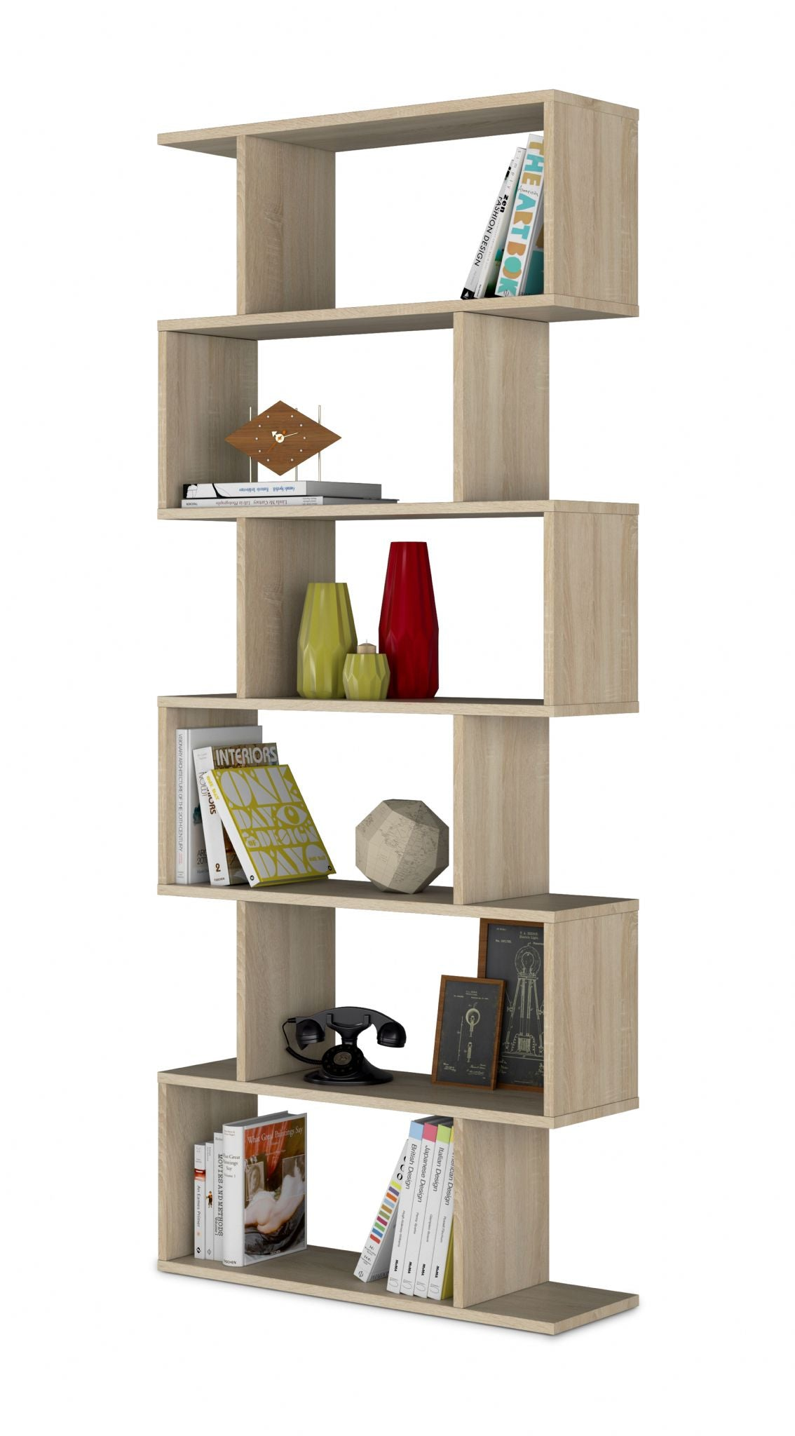 Lotus Oak Effect Bookcase