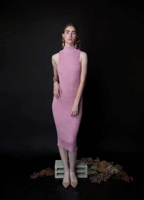 long SHIRA dress in pink