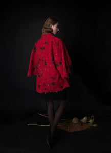 RIVER cape in red