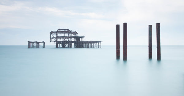The Remnants of the West Pier II, Panoramic, Brighton - West Sussex