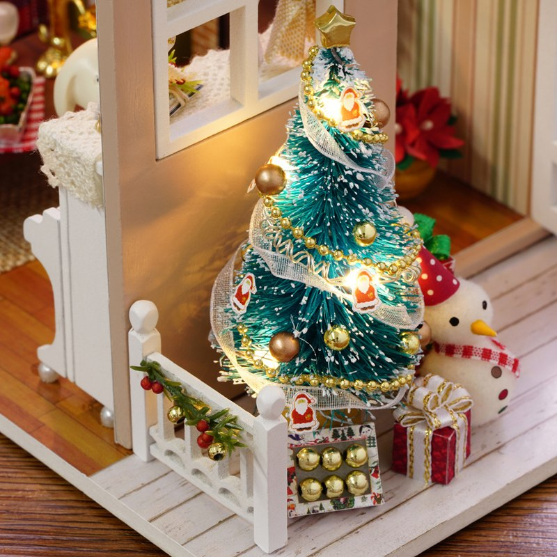 Doll House Miniature Diy Dollhouse With Furnitures American Retro Style 3d Wooden House Puzzle Toys Holiday Times Z009 E