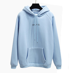 c7f0e5f6d364a 2017 Fsdhion Autumn Winter Fleece Oh Yes Letter Harajuku Print Pullover  Thick Loose Women Hoodies Sweatshirts Female Casual Coat