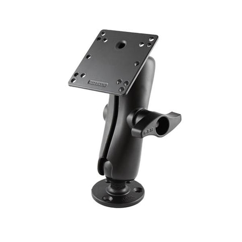 RAM D Ball Mount with Round & Square Plate VESA 75mm and 100mm Hole Patterns (RAM-D-101U-246) - RAM Mounts - Mounts Turkey