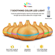 Load image into Gallery viewer, Aromadiffuser - Smart Aromatherapy Ultrasonic Oil Diffuser 550ml