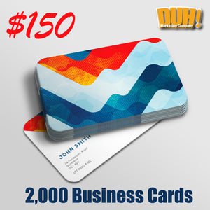 Amazing Business Card Deal — 2000 Round Cornered Cards