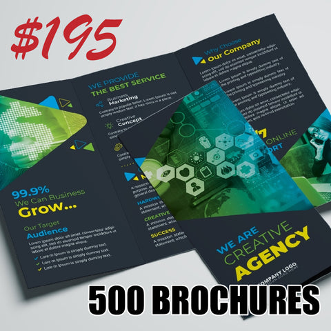 Amazing Brochure Deal — 500 Folded Glossy Brochures