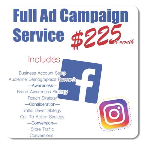 Full Service Ad Management — Facebook, Instagram, Analytics, & SEO (Monthly Subscription)