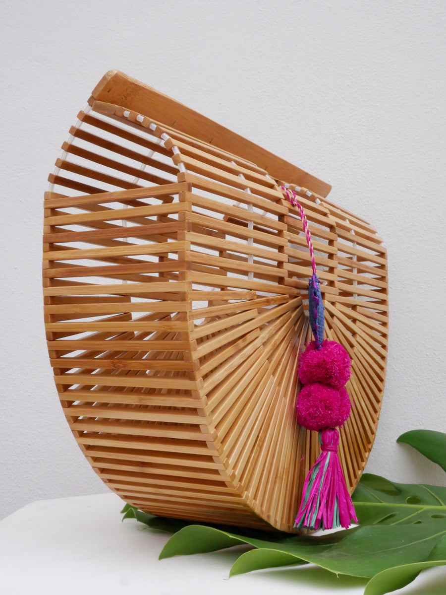 Santorini Bamboo Clutch Purse - The Beach Bride by Chic Parisien, a destination for beach weddings, bachelorettes and honeymoons