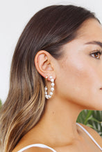 Load image into Gallery viewer, Maldives Pearl Hoop Earrings - The Beach Bride by Chic Parisien, a destination for beach weddings, bachelorettes and honeymoons