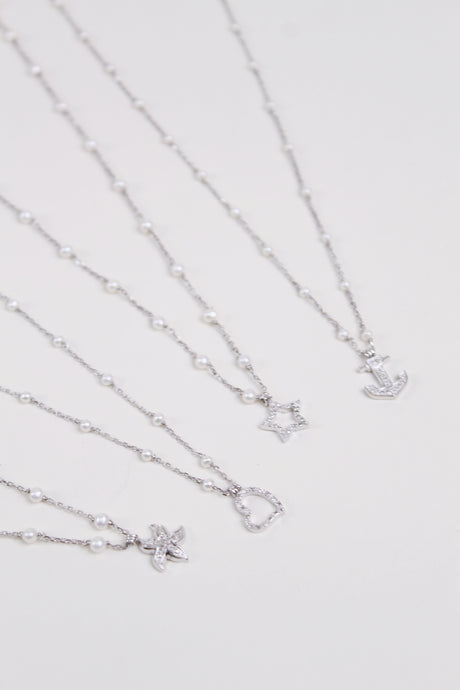 Silver Charm Necklace - The Beach Bride by Chic Parisien, a destination for beach weddings, bachelorettes and honeymoons
