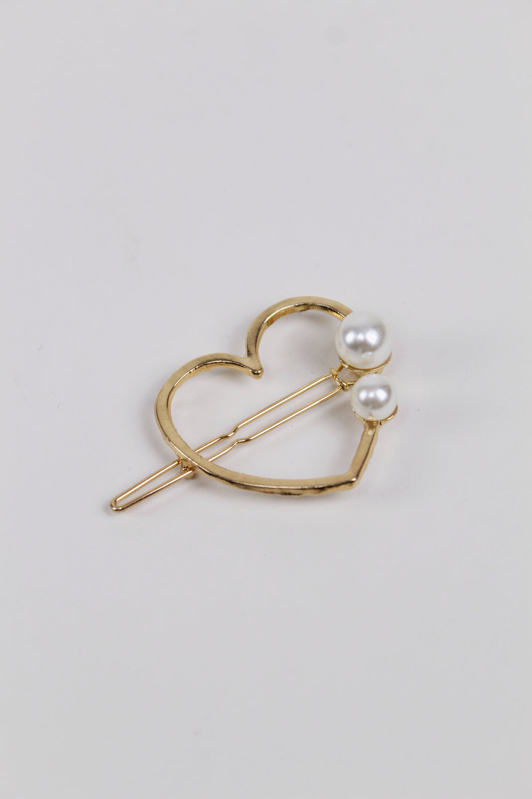Heart Pearl Barrette - The Beach Bride by Chic Parisien, a destination for beach weddings, bachelorettes and honeymoons