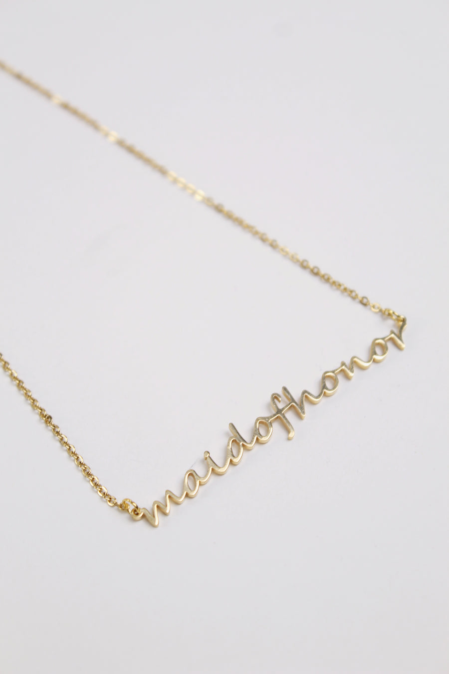 Maid of Honor Necklace - The Beach Bride by Chic Parisien, a destination for beach weddings, bachelorettes and honeymoons