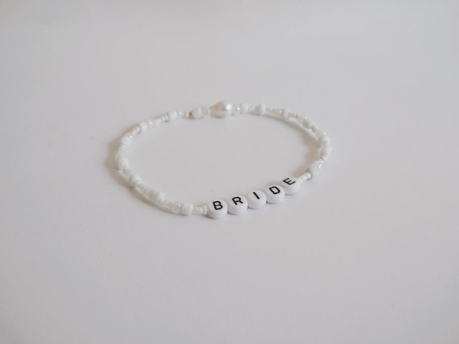 Letter Anklets - Esposa, Bride, Mrs - The Beach Bride by Chic Parisien, a destination for beach weddings, bachelorettes and honeymoons