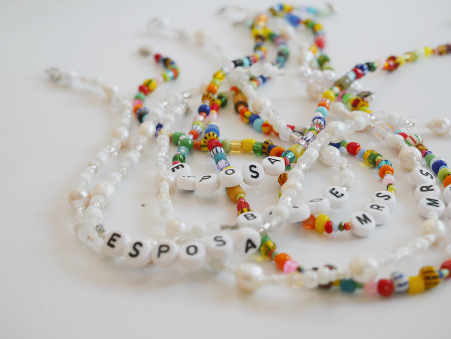 Custom Letter Necklaces, Bracelets, and Anklets - The Beach Bride by Chic Parisien, a destination for beach weddings, bachelorettes and honeymoons