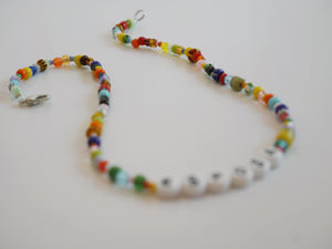 Letter Choker Necklaces - The Beach Bride by Chic Parisien, a destination for beach weddings, bachelorettes and honeymoons