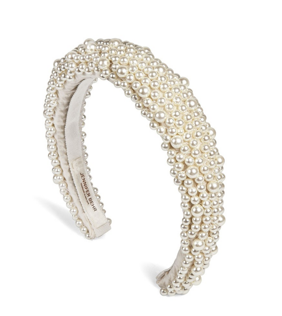 Bailey Pearl Headband - The Beach Bride by Chic Parisien, a destination for beach weddings, bachelorettes and honeymoons