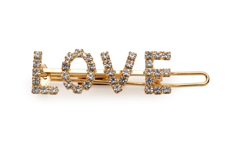 LOVE Barrette - The Beach Bride by Chic Parisien, a destination for beach weddings, bachelorettes and honeymoons