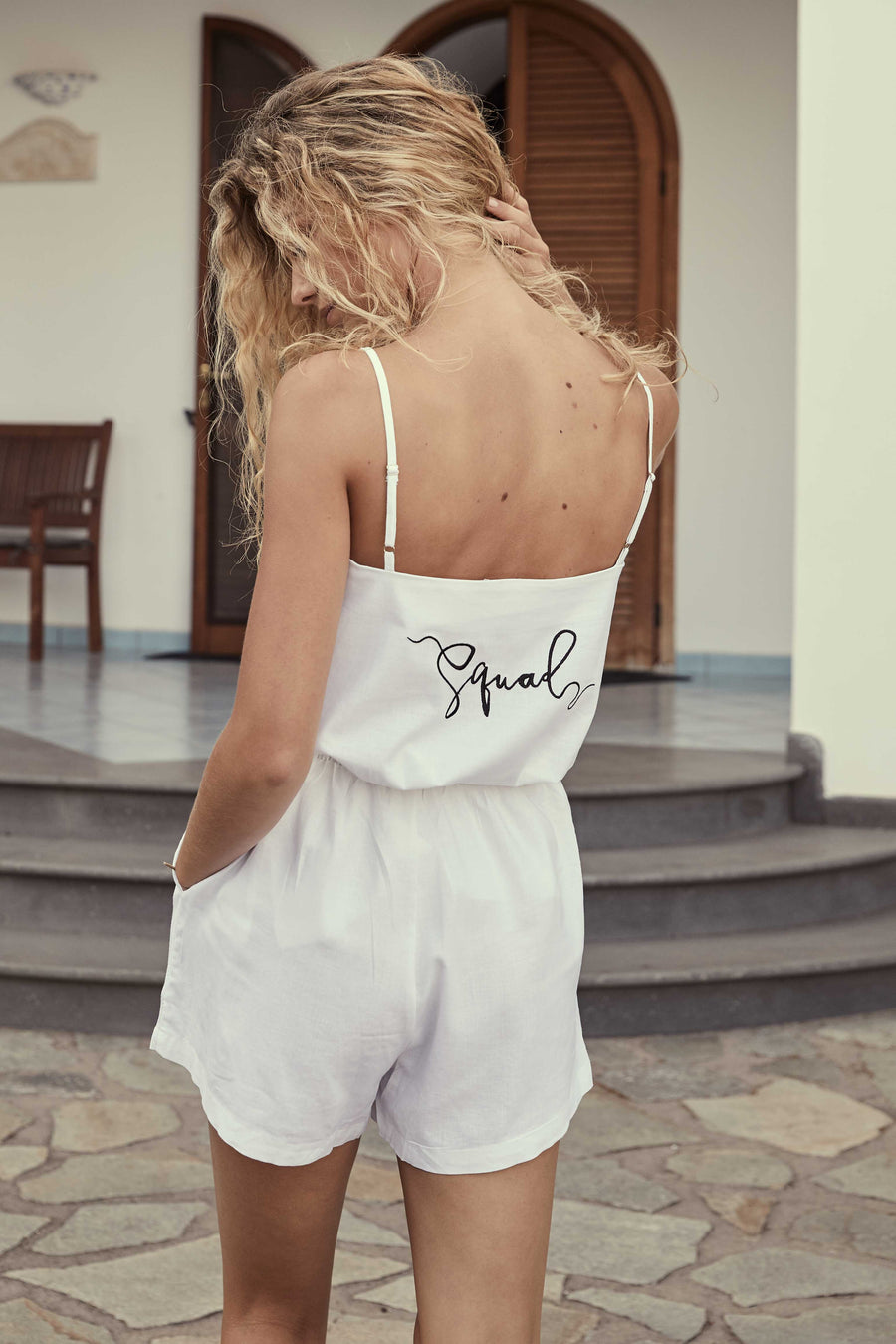 The 2-Piece Linen Squad Pajama - The Beach Bride by Chic Parisien, a destination for beach weddings, bachelorettes and honeymoons