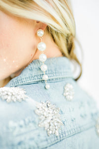 St. Barths Pearl Earrings - The Beach Bride by Chic Parisien, a destination for beach weddings, bachelorettes and honeymoons
