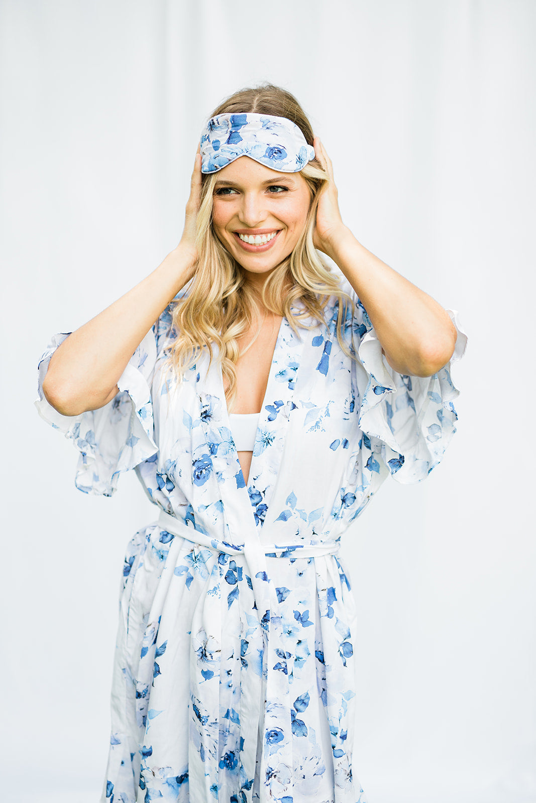 Floral Print Sleep Mask - The Beach Bride by Chic Parisien, a destination for beach weddings, bachelorettes and honeymoons