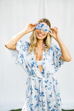 Load image into Gallery viewer, Floral Print Sleep Mask - The Beach Bride by Chic Parisien, a destination for beach weddings, bachelorettes and honeymoons