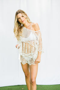 Spearhead Pasha Bridal Lace Top By Eberjey - The Beach Bride by Chic Parisien, a destination for beach weddings, bachelorettes and honeymoons