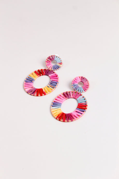 Cancun Rainbow Statement Earrings - The Beach Bride by Chic Parisien, a destination for beach weddings, bachelorettes and honeymoons