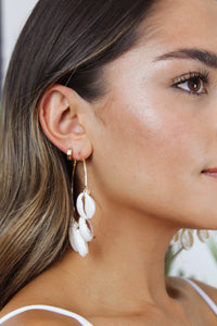 Kauai Shell Hoop Earrings - The Beach Bride by Chic Parisien, a destination for beach weddings, bachelorettes and honeymoons