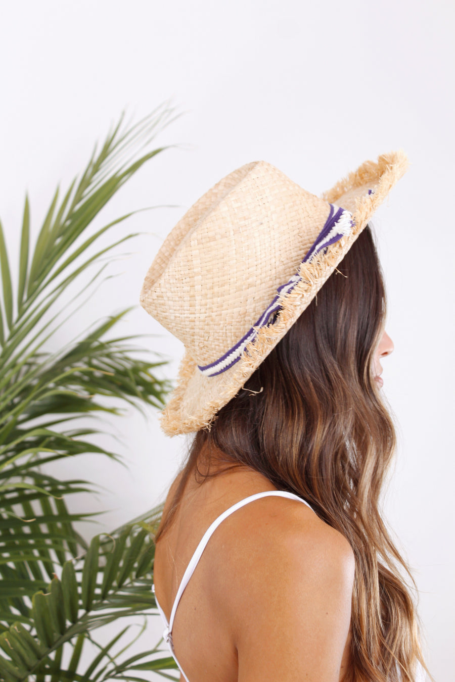 Malibu Ribbon Hat by HatAttack - The Beach Bride by Chic Parisien, a destination for beach weddings, bachelorettes and honeymoons