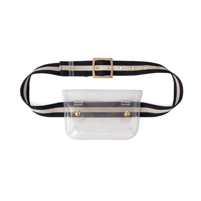 Clear Fanny Pack aka Arena Belt Bag - The Beach Bride by Chic Parisien, a destination for beach weddings, bachelorettes and honeymoons