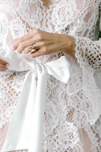 Load image into Gallery viewer, Leah Corded Robe Long - The Beach Bride by Chic Parisien, a destination for beach weddings, bachelorettes and honeymoons