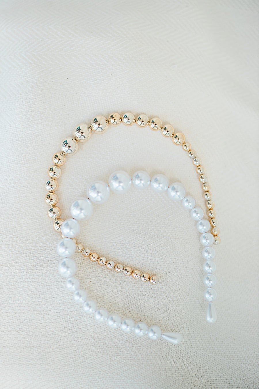Marseille Pearl or Gold Headband - The Beach Bride by Chic Parisien, a destination for beach weddings, bachelorettes and honeymoons
