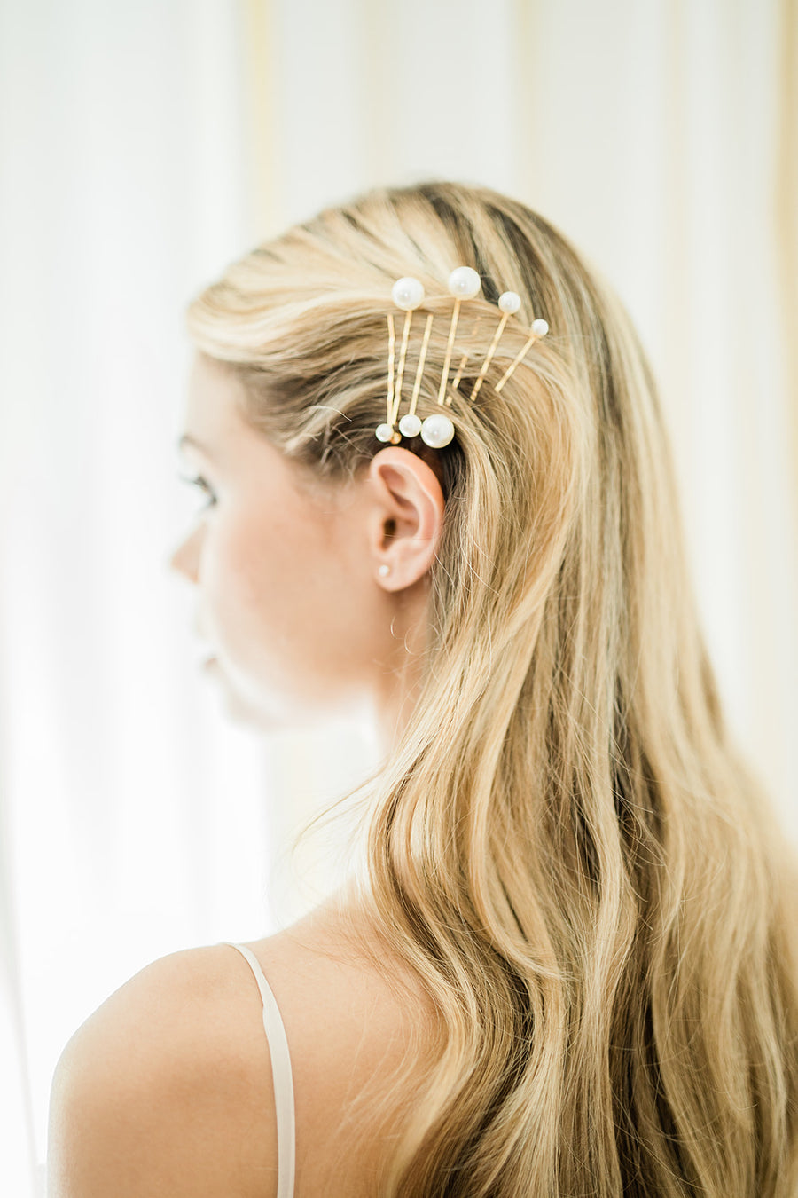 Perla Bobby Pin 7-Set with Pearls - The Beach Bride by Chic Parisien, a destination for beach weddings, bachelorettes and honeymoons
