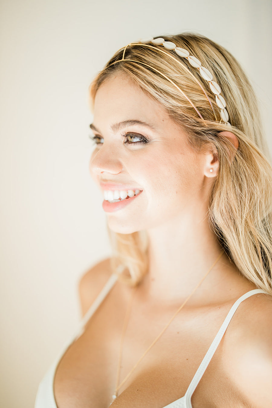 Hollow Glossy Headband - The Beach Bride by Chic Parisien, a destination for beach weddings, bachelorettes and honeymoons
