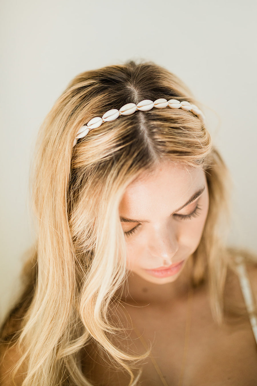 Shell Headband - The Beach Bride by Chic Parisien, a destination for beach weddings, bachelorettes and honeymoons