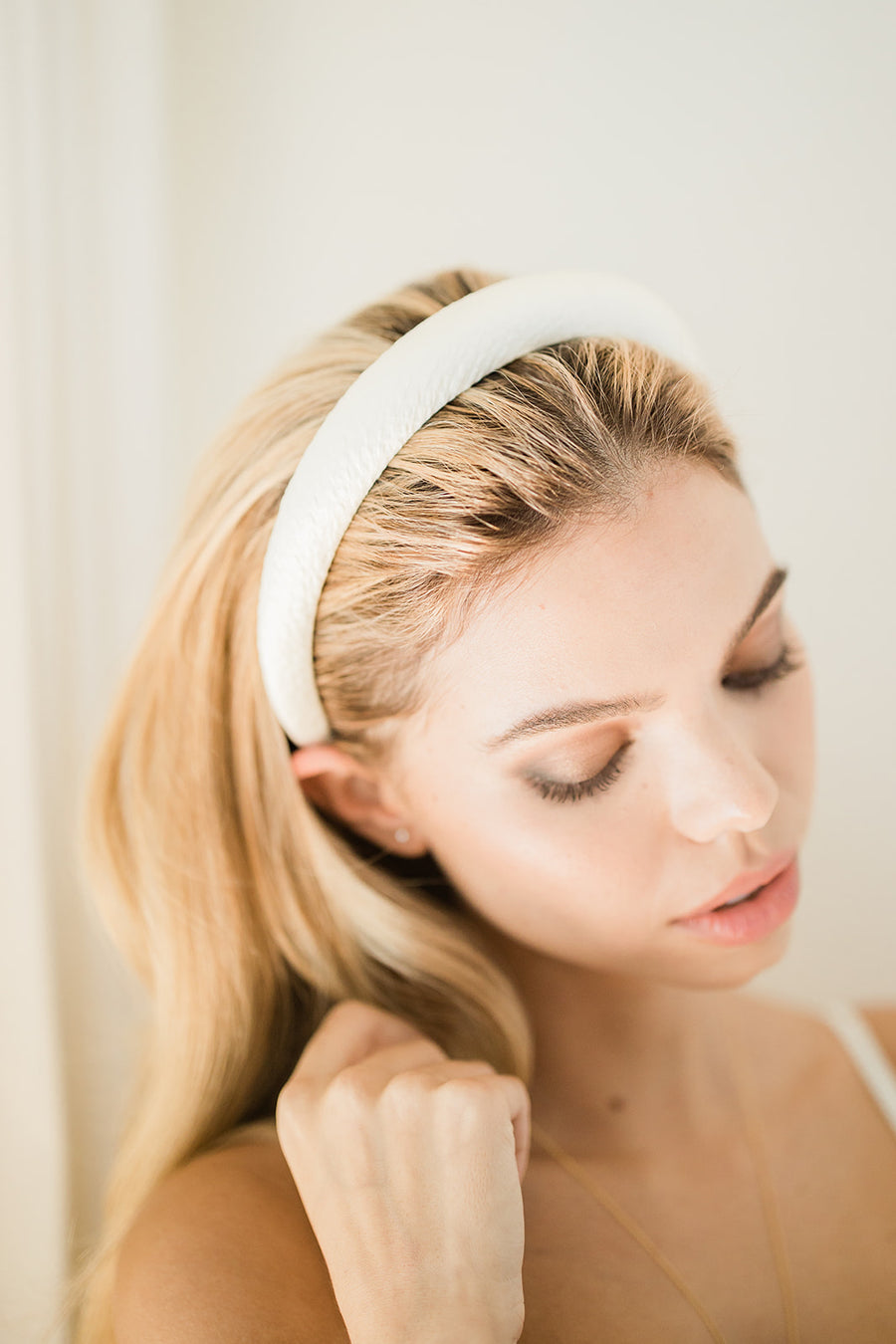 Tori Hammered Silk Headband - The Beach Bride by Chic Parisien, a destination for beach weddings, bachelorettes and honeymoons