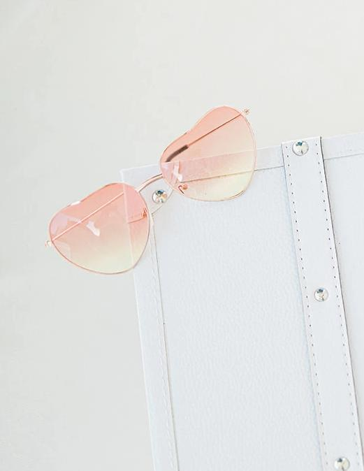 Heart Colored Glasses Aviator Style - The Beach Bride by Chic Parisien, a destination for beach weddings, bachelorettes and honeymoons