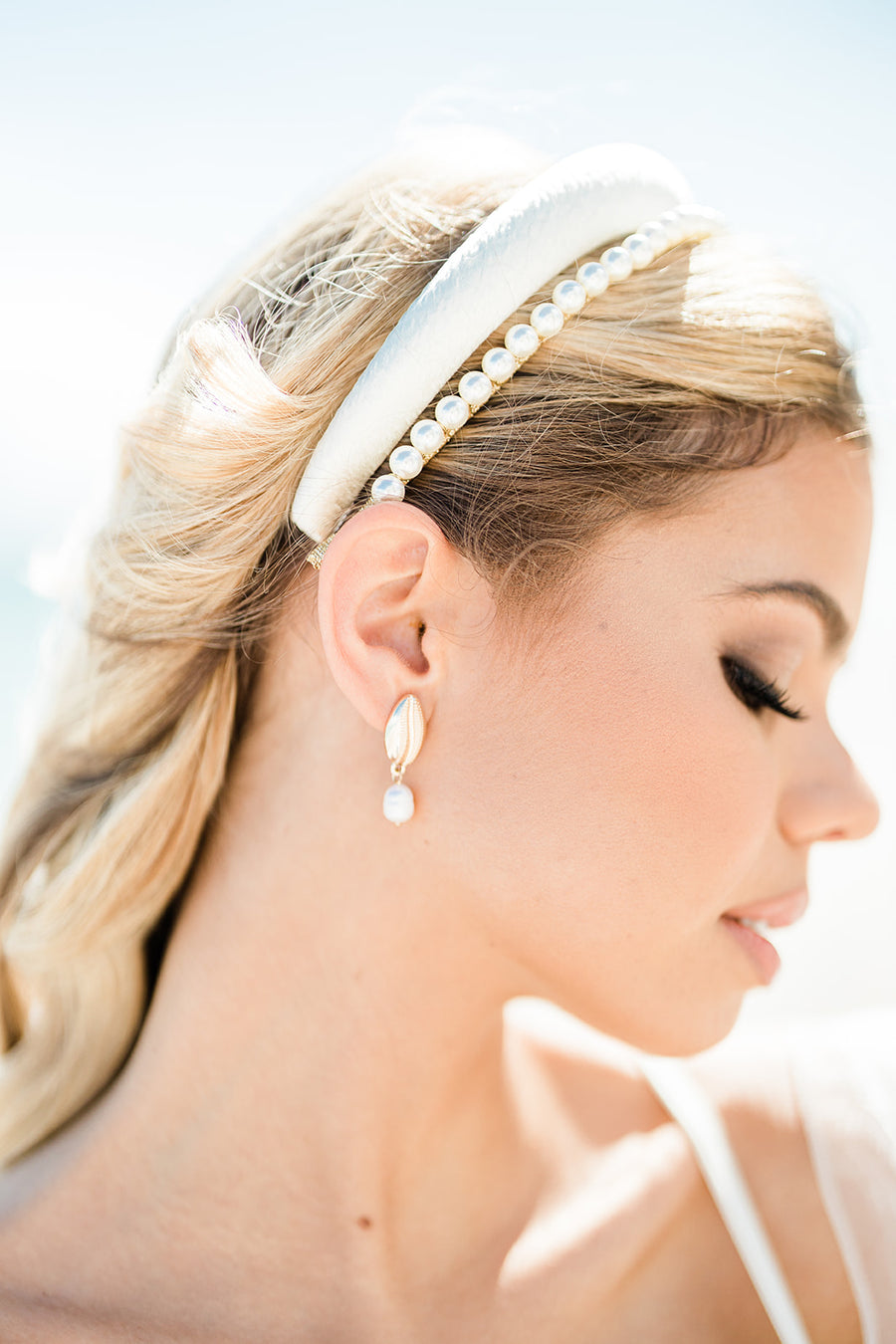 Brinn Headband - The Beach Bride by Chic Parisien, a destination for beach weddings, bachelorettes and honeymoons