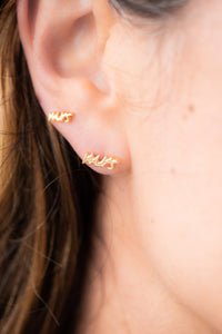 Mrs 18k Gold Earrings at The Beach Bride - The Beach Bride by Chic Parisien, a destination for beach weddings, bachelorettes and honeymoons