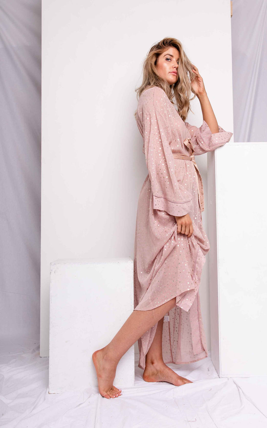 Long Chiffon Robe- Luna - The Beach Bride by Chic Parisien, a destination for beach weddings, bachelorettes and honeymoons