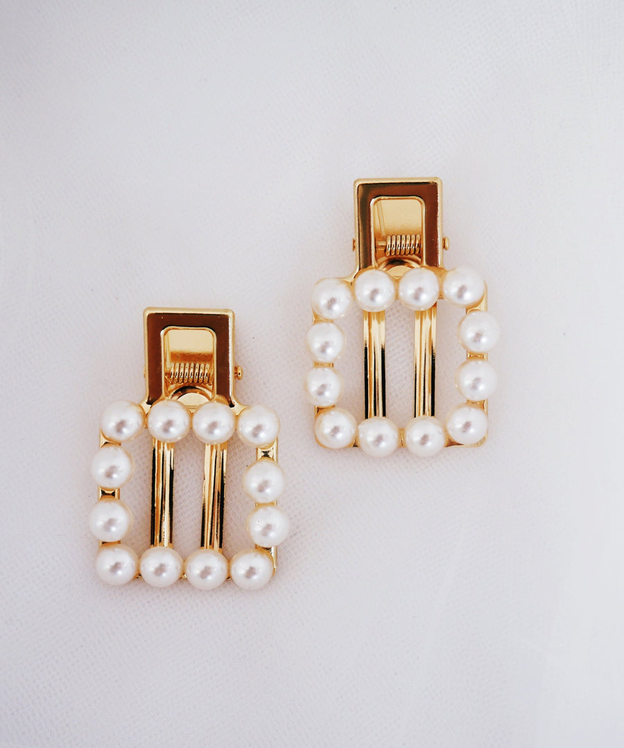 Pearl Hair Clips/Barrettes - The Beach Bride by Chic Parisien, a destination for beach weddings, bachelorettes and honeymoons