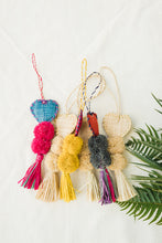 Load image into Gallery viewer, Heart Shaped Raffia Pom Poms - The Beach Bride by Chic Parisien, a destination for beach weddings, bachelorettes and honeymoons