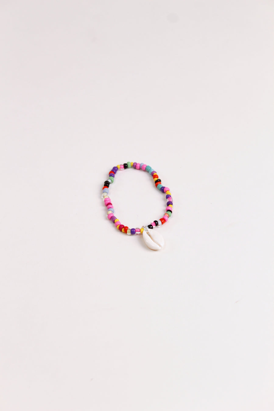 St. Lucia Beaded Rainbow Shell Anklet - The Beach Bride by Chic Parisien, a destination for beach weddings, bachelorettes and honeymoons