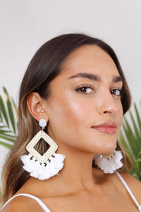 Bermuda Boho Tassel Earrings - The Beach Bride by Chic Parisien, a destination for beach weddings, bachelorettes and honeymoons