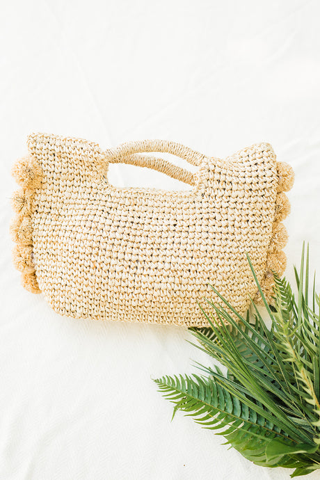 Beachy Pom Pom Bag by HatAttack - The Beach Bride by Chic Parisien, a destination for beach weddings, bachelorettes and honeymoons