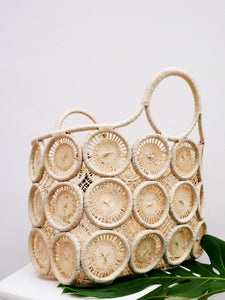 Macrame Basket Tote-Natural by HatAttack - The Beach Bride by Chic Parisien, a destination for beach weddings, bachelorettes and honeymoons