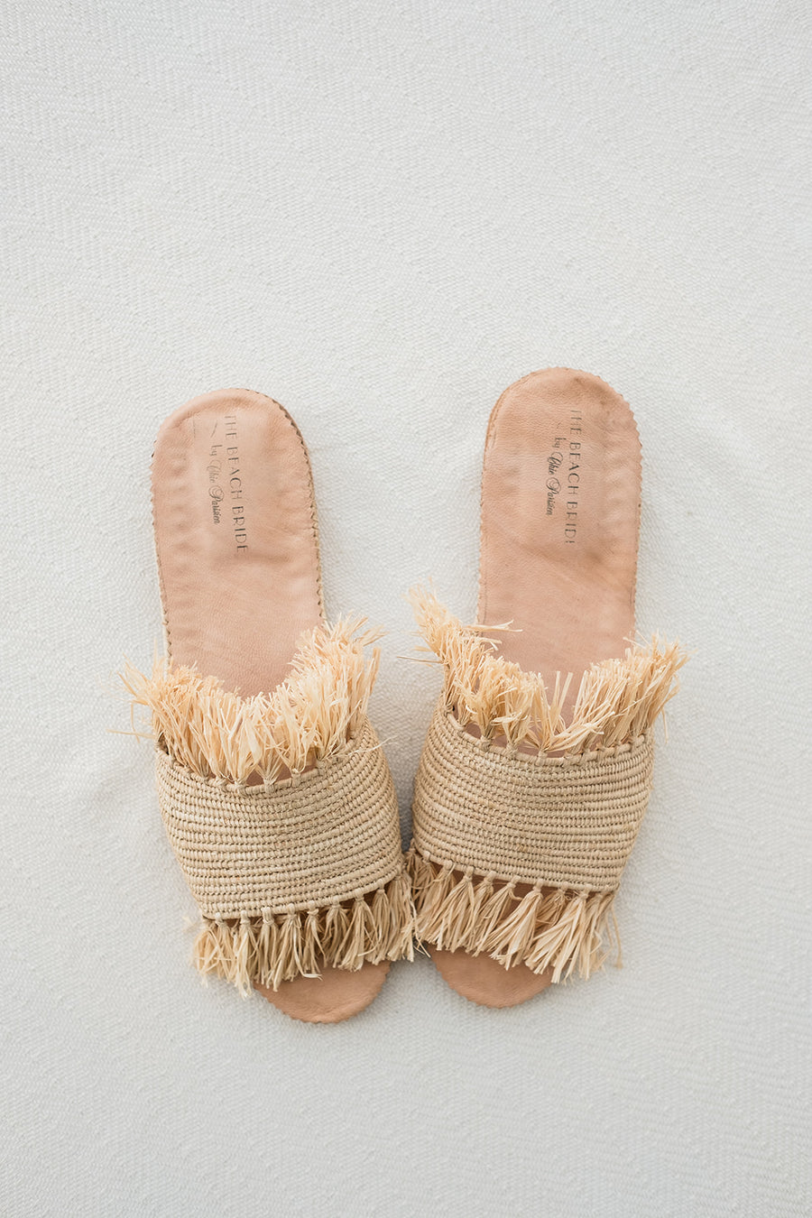 Raffia Fringe Beach Sandals - The Beach Bride by Chic Parisien, a destination for beach weddings, bachelorettes and honeymoons