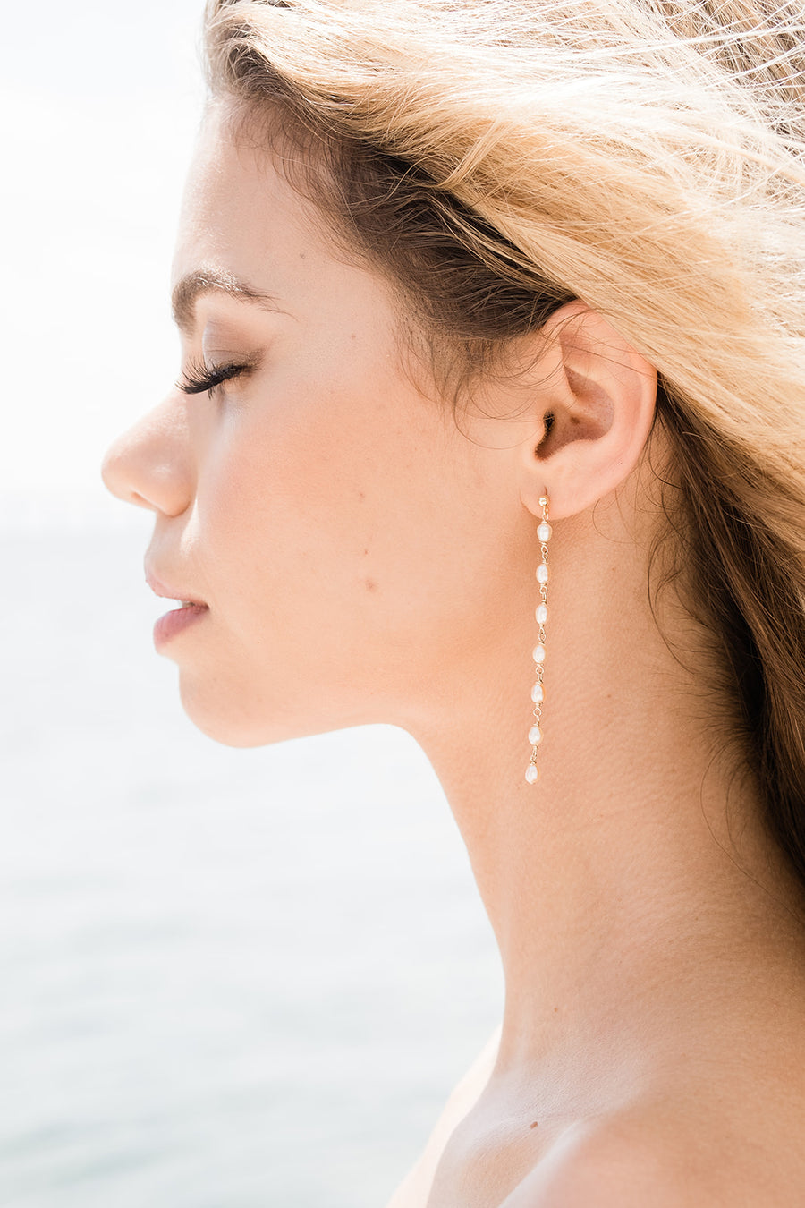 Mini Pearl Drop Earrings by NST Studio - The Beach Bride by Chic Parisien, a destination for beach weddings, bachelorettes and honeymoons